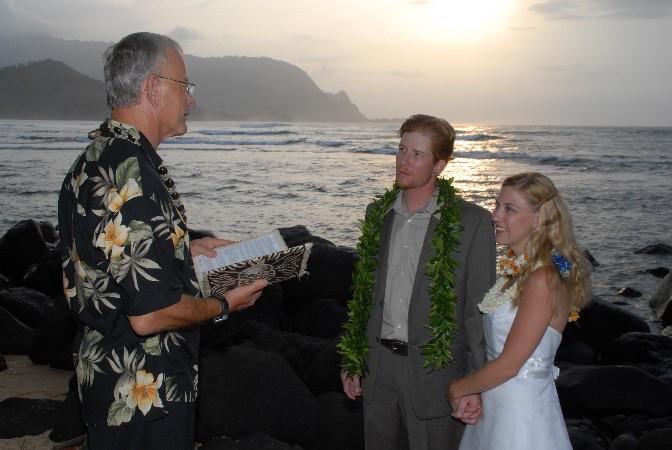 Princeville Beach Wedding